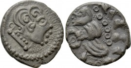 "CENTRAL EUROPE. Uncertain tribe. Quinarius (Circa 1st Century BC). ""Nauheimer"" type."