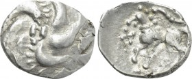 "CENTRAL EUROPE. Vindelici. Quinarius (1st century BC). ""Manching"" type."