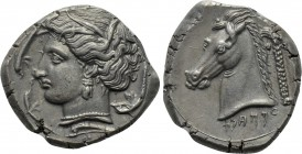 SICILY. Entella. Punic issues (Circa 345/38-320/15 BC). Tetradrachm.