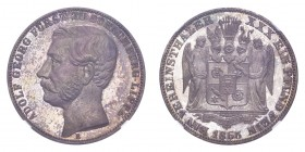 GERMANY: SCHAUMBURG-LIPPE. Adolf Georg, 1860-93. Taler 1865-B, Hannover. 18.52 g. Mintage 7,000. J-16. Lovely proof. Prachtexemplar. Highly reflective...