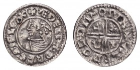 GREAT BRITAIN. Aethelred II, 978-1016. Penny , Intermediate Small Cross/Crux type mule, Winchester mint, moneyer AELFWEALD, +ÆÐELRÆD REX ANGLORX, rev....