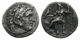 Kings of Macedon, Philip III (323-317 BC). AR Drachm (16.5mm, 3.93g, 12h). In the name and types of Alexander III. Magnesia ad Meandrum, c. 323-319 BC...