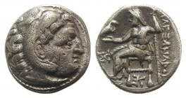 Kings of Macedon, Antigonos I Monophthalmos (Strategos of Asia, 320-306/5 BC). AR Drachm (18mm, 4.23g, 11h). In the name and types of Alexander III. K...