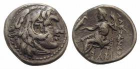 Kings of Macedon, Antigonos I Monophthalmos (Strategos of Asia, 320-306/5 BC, or king, 306/5-301 BC). AR Drachm (17mm, 4.16g, 11h). In the name and ty...