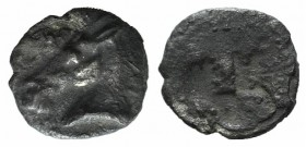 Asia Minor, Uncertain, 5th century BC. AR Tetartemorion (5mm, 0.19g). Horse's head l. R/ Quadripartite incuse square. Cf. Tzamalis 92 (Thraco-Macedoni...