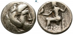 Eastern Europe. Imitations of Alexander III of Macedon  circa 300-200 BC. Tetradrachm AR