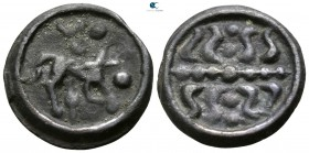 Gaul. Uncertain mint in Northeast (Belgium) 100-50 BC. Nervii. Potin Æ
