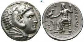 Kings of Macedon. Amphipolis. Philip III Arrhidaeus 323-317 BC. In the name of Alexander III. Struck under Antipater, circa 318-317 BC. Tetradrachm AR