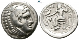 Kings of Macedon. Amphipolis. Philip III Arrhidaeus 323-317 BC. In the name of Alexander III. Struck under Antipater, circa 322-320 BC. Tetradrachm AR