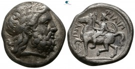 Kings of Macedon. Amphipolis. Philip II. 359-336 BC. 355-349/8 BC. Tetradrachm AR