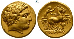 Kings of Macedon. Pella. Philip II. 359-336 BC. Stater AV