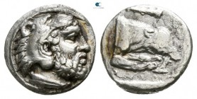 Kings of Macedon. Aigai. Archelaos 36 BC-AD 17. Obol AR