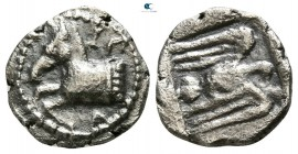 Kings of Thrace. Uncertain mint. Sparadokos circa 464-444 BC. Diobol AR
