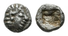 Ionia, Kolophon. Circa late 6th Century BC. AR Tetartemorion (4mm, 0.22g). Head of Apollo right / Irregular incuse punch. Milne, Kolophon -; SNG Kayha...