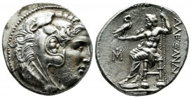 Ionia, Miletos. Ca. 295/0-275/0 BC. AR Tetradrachm (28mm, 16.92g). In the name and types of Alexander III of Macedon. Head of Herakles right, wearing ...