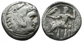 Kings Of Macedon. Alexander III 'the Great', 336-323 BC. AR Drachm (16mm, 4.02g), uncertain Black Sea or western Asia Minor mint. Head of Herakles to ...