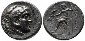 Kings of Macedon. Circa 212/11-184/3 BC. AR Tetradrachm (30mm, 15.81g). Aspendos mint. In the name and types of Alexander III of Macedon. Dated CY 18 ...