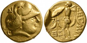 CELTIC, Central Europe. Boii. 2nd century BC. 1/3 Stater (Gold, 12 mm, 2.78 g, 11 h), early Athena-Alkis-series. Helmeted head of Athena to right. Rev...