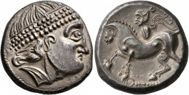 CELTIC, Middle Danube. Uncertain tribe. 2nd century BC. Tetradrachm (Silver, 22 mm, 12.53 g, 1 h), 'Kroisbach mit Reiterstumpf' type, mint in Burgenla...