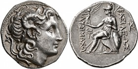 KINGS OF THRACE. Lysimachos, 305-281 BC. Tetradrachm (Silver, 29 mm, 17.09 g, 6 h), Amphipolis, circa 288/7-282/1 BC. Diademed head of Alexander the G...