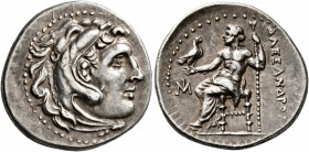 KINGS OF MACEDON. Alexander III 'the Great', 336-323 BC. Drachm (Silver, 19 mm, 4.17 g, 1 h), Miletos, circa 295-275. Head of Herakles to right, weari...