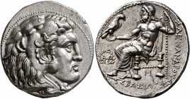 KINGS OF MACEDON. Alexander III 'the Great', 336-323 BC. Tetradrachm (Silver, 27 mm, 17.06 g, 11 h), Babylon, struck under Seleukos I, circa 311-300 B...