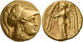 KINGS OF MACEDON. Alexander III 'the Great', 336-323 BC. Stater (Gold, 17 mm, 8.59 g, 7 h), Babylon I, struck under Seleukos I, circa 311-300. Head of...