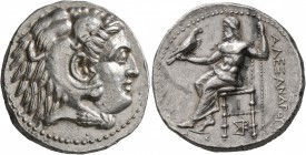 KINGS OF MACEDON. Alexander III 'the Great', 336-323 BC. Tetradrachm (Silver, 27 mm, 17.12 g, 9 h), Carrhae, struck under Antigonos I Monophthalmos, c...