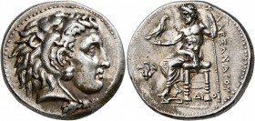 KINGS OF MACEDON. Alexander III 'the Great', 336-323 BC. Tetradrachm (Silver, 27 mm, 17.23 g, 11 h), Memphis, circa 332-323. Head of Herakles to right...