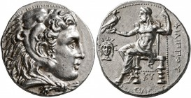 KINGS OF MACEDON. Philip III Arrhidaios, 323-317 BC. Tetradrachm (Silver, 26 mm, 17.12 g, 2 h), Babylon, struck under Archon, Dokimos, or Seleukos I. ...