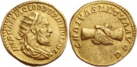 Pupienus, 22 April – 29 July 238. Binio, possibly struck in India 238, AV 7.25 g. IMP CAES M CLOD PVPIIINVS AVG Radiate, draped and cuirassed bust r. ...