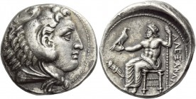 Kings of Macedonia, Alexander III, 336 – 323 and posthmous issues. Tetradrachm, Amphipolis circa 336-323 BC, AR 17.21 g. Head of Heracles r., wearing ...