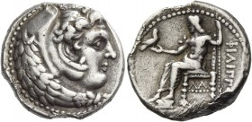 Philip III, 323 – 317 and posthmous issues. Didrachm, Susa circa 320-316 BC, AR 8.28 g. Head of Heracles r., wearing lion's skin headdress. Rev. Zeus ...