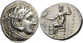 Kings of Macedon. Alexander III 'the Great', 336-323 BC. Tetradrachm (Silver, 27 mm, 17.26 g, 9 h), Pella, circa 325-315. Head of youthful Herakles in...