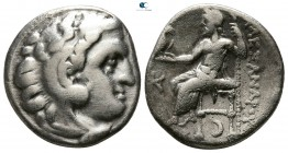 "Kings of Macedon. Kolophon. Alexander III ""the Great"" 336-323 BC. In the name and types of Alexander III. Struck circa 310-301 BC.. Drachm AR"