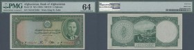 Afghanistan: 5 afghanis ND(1939) P. 22, condition: PMG graded 64 Choice UNC.