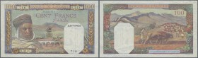 Algeria: set of 3 banknotes containing 5 Francs 1916 P. 71b (VG), 100 Francs 1936 P. 81b (F) and 100 Francs 1945 P. 88 (crisp paper, VF), nice set. (3...
