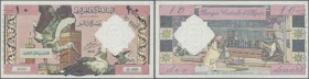 Algeria: 10 Dinars 1964 Specimen P. 123s, unfolded but light handling and creases in paper, condition: XF.