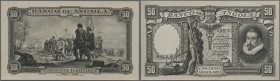 Angola: set of 2 front and back Photo Proofs of Angola 50 Angolares ND(1944) Pick 80p, zero serial number, original archival photo proofs of DLR.