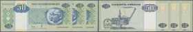 Angola: set of 3 pcs 50 Kwanzas 1999 Specimen P. 146as with zero serial numbers, Specimen perforation in condition: UNC. (3 pcs)