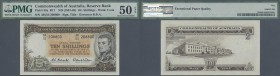 Australia: 10 Shillings ND(1961-65) P. 33a, condition: PMG graded 50 aUNC EPQ.