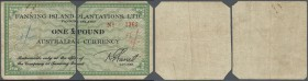 Australia: FANNING ISLANDS 1 Pound Australian Currency, Fanning Islands, one of the British Line Islands of the Gilbert & Ellice Islands Colony, was t...