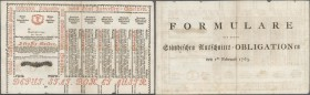Austria: 30 Gulden 1763 Obligation Vienna, PR W7), complete sheet in condition: XF.
