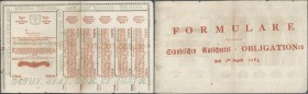 Austria: 120 Gulden 1763 Obligation Vienna, PR W13), complete sheet in condition: XF.