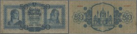 Austria: 50 Schilling 1929 P. 96, stronger used, strong center fold, softness in paper, center hole, several folds but no large damages, not repaired,...