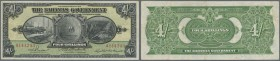 Bahamas: Bahamas: 4 Shillings L.1919, signature BURNS at left, P.2b in nice original condition with bright colors and strong paper with several folds ...