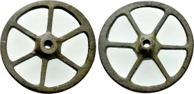 "CENTRAL EUROPE. La Tène. Ae ""Roulle"" (Wheel) Money (3rd-2nd centuries BC). Wheel of six spokes, with central hole."