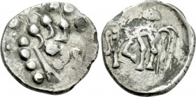 "CENTRAL EUROPE. Boii. Quinarius (2nd-1st centuries BC). ""Prager"" type."