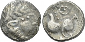 "EASTERN EUROPE. Imitations of Philip II of Macedon (2nd-1st centuries BC). Fourrée Drachm. ""Kugelwange"" type."