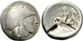 "EASTERN EUROPE. Imitations of Philip II of Macedon. Tetradrachm (2nd-1st centuries BC). ""Huşi-Vovrişsti"" (Dacian-Moldavien) type."